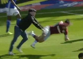 Villa's Jack Grealish punched by fan during Birmingham derby