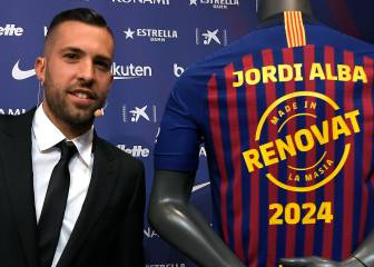 Jordi Alba invites the squad to dinner to toast new contract