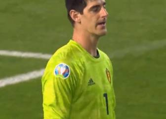 El terrible error de Courtois que confirma su mal momento