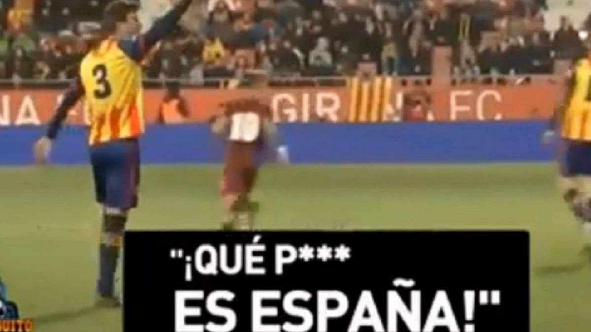Piqué mandó callar a los que gritaron 'qué puta es España'
