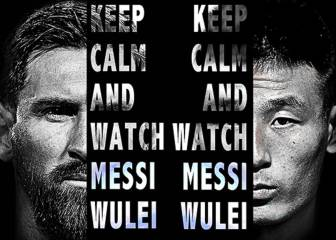 Messi vs. Wu Lei Catalan derby gripping China's PPTV