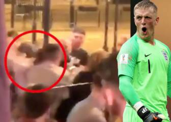 Pickford: punches thrown in video footage of England star