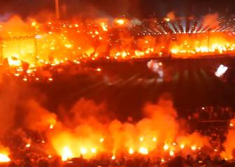 Burn baby burn. PAOK win their first league title in 34 years