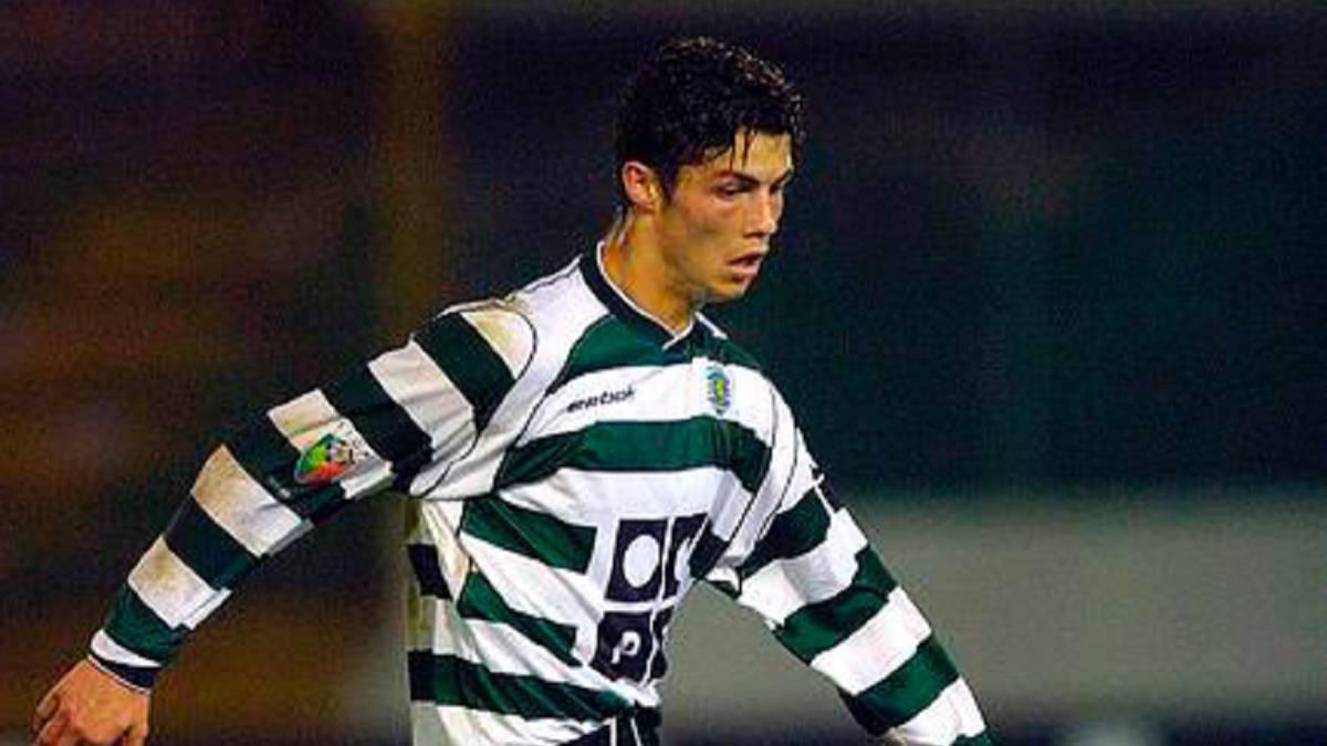 Cristiano Ronaldo, durante un partido del Sporting de Portugal.