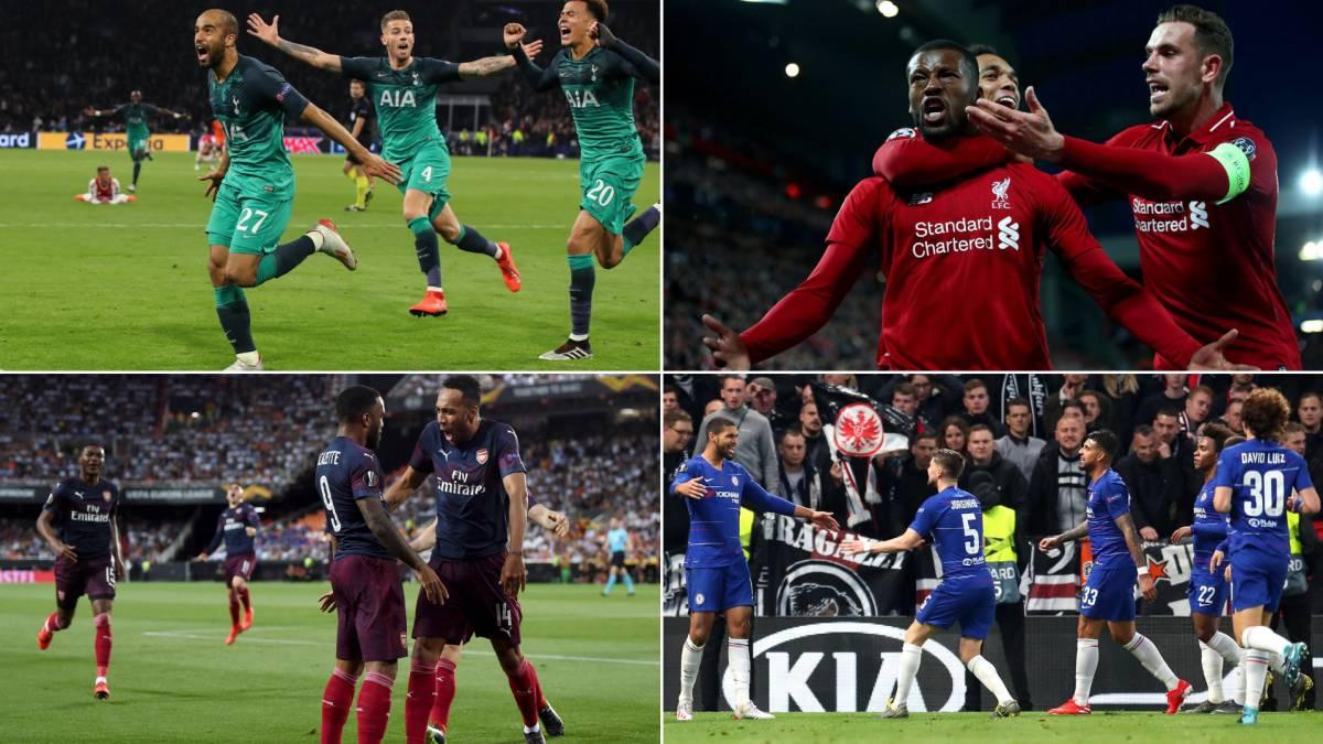 Tottenham-Liverpool en Champions y Arsenal-Chelsea en Europa League