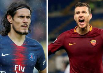 France Football: Dzeko, posible recambio para Cavani