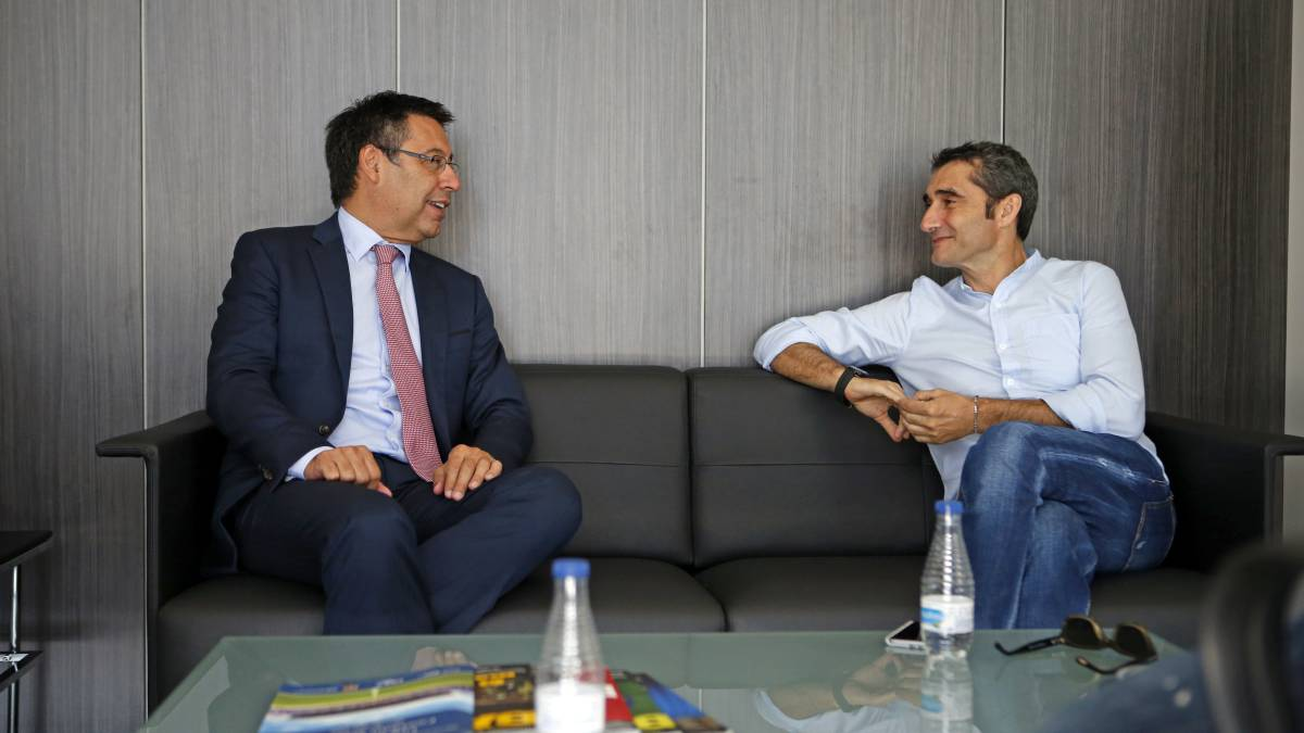"""Bartomeu ends Barcelona coaching discussion: """"Valverde is the right man for us"""""""