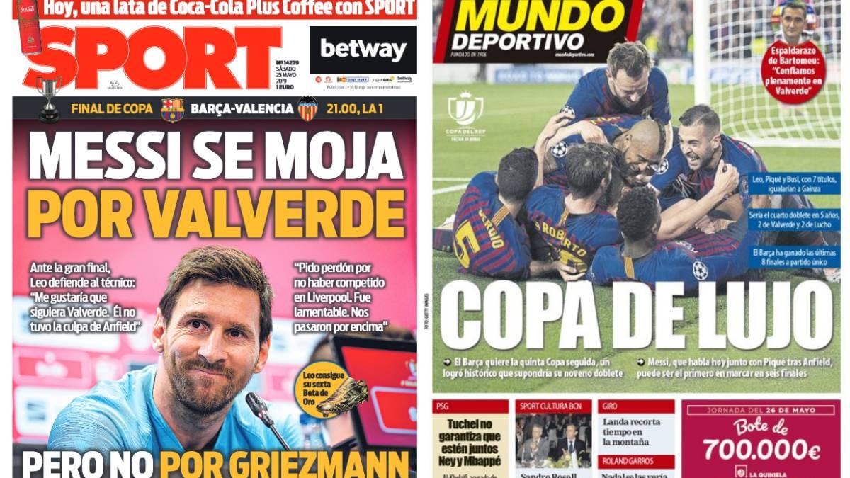 Más Leo Messi que Copa del Rey en la prensa de Barcelona