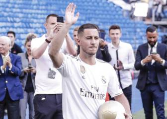 Hazard's two possible shirt numbers at Real Madrid