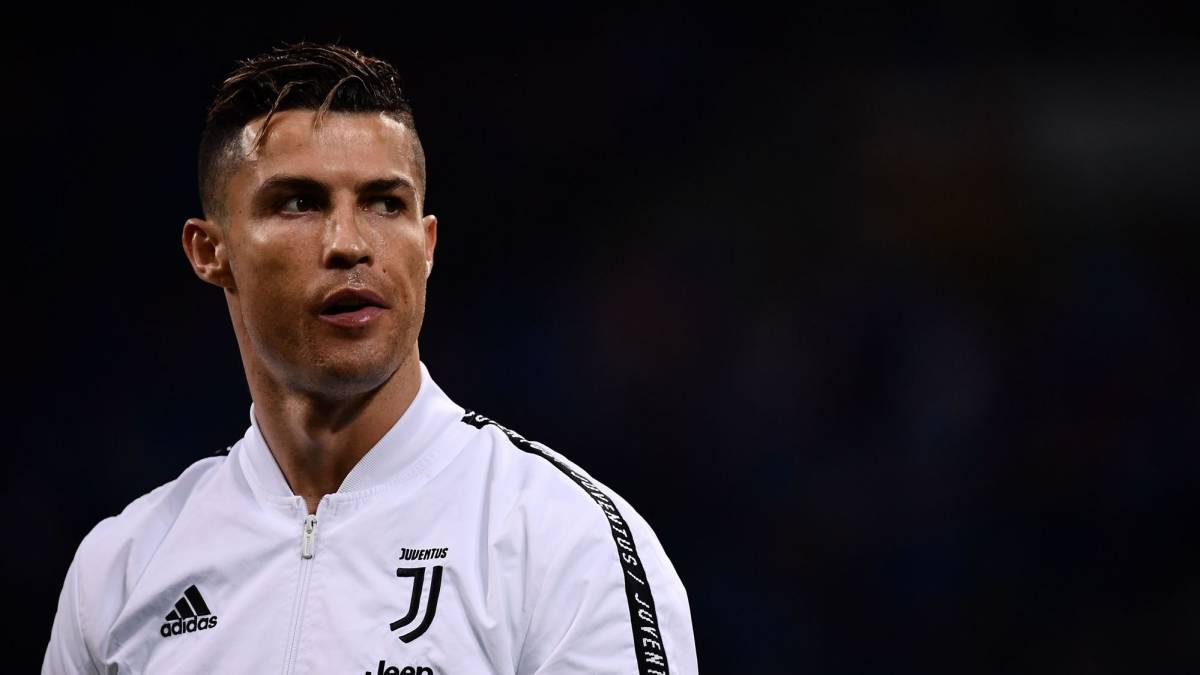 Cristiano en un partido con la Juventus ante el Milán