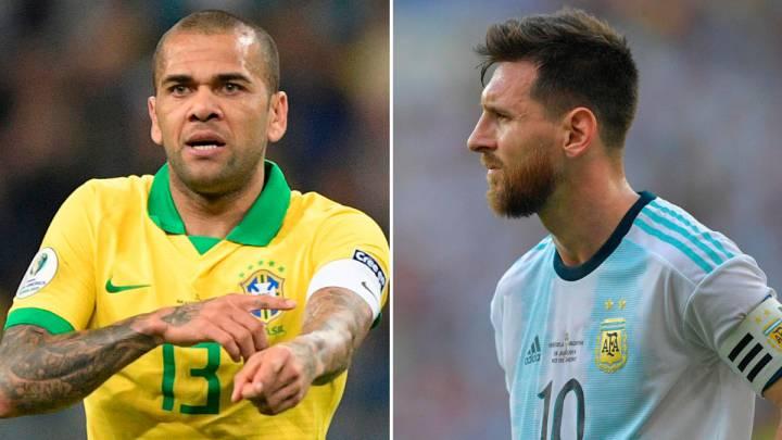 Messi y Alves, reviven el duelo de 2007 ahora como capitanes