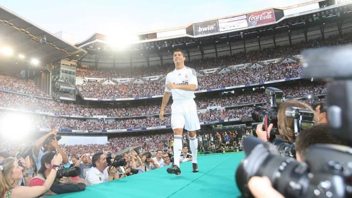 Cristiano Ronaldo, presentado en el Bernabéu.