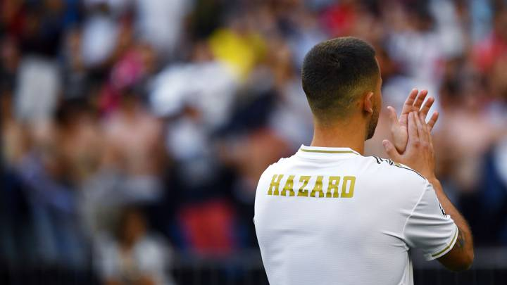 super popular ae7dd 48bd0 Real Madrid: Cristiano's number '7' reserved for Hazard - AS.com