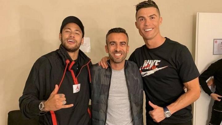 Neymar estuvo en Turín grabando un anuncio con Cristiano