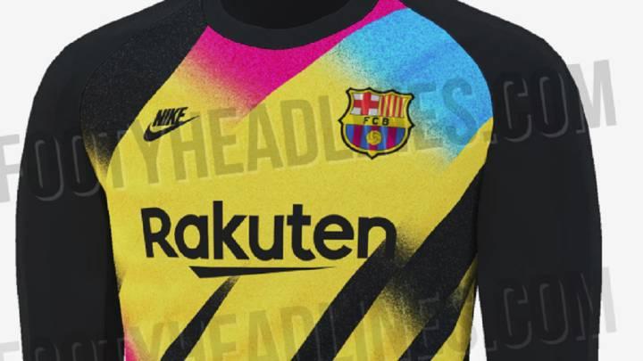 a946e0fd Se filtra la sorprendente tercera equipación de portero del Barça ...