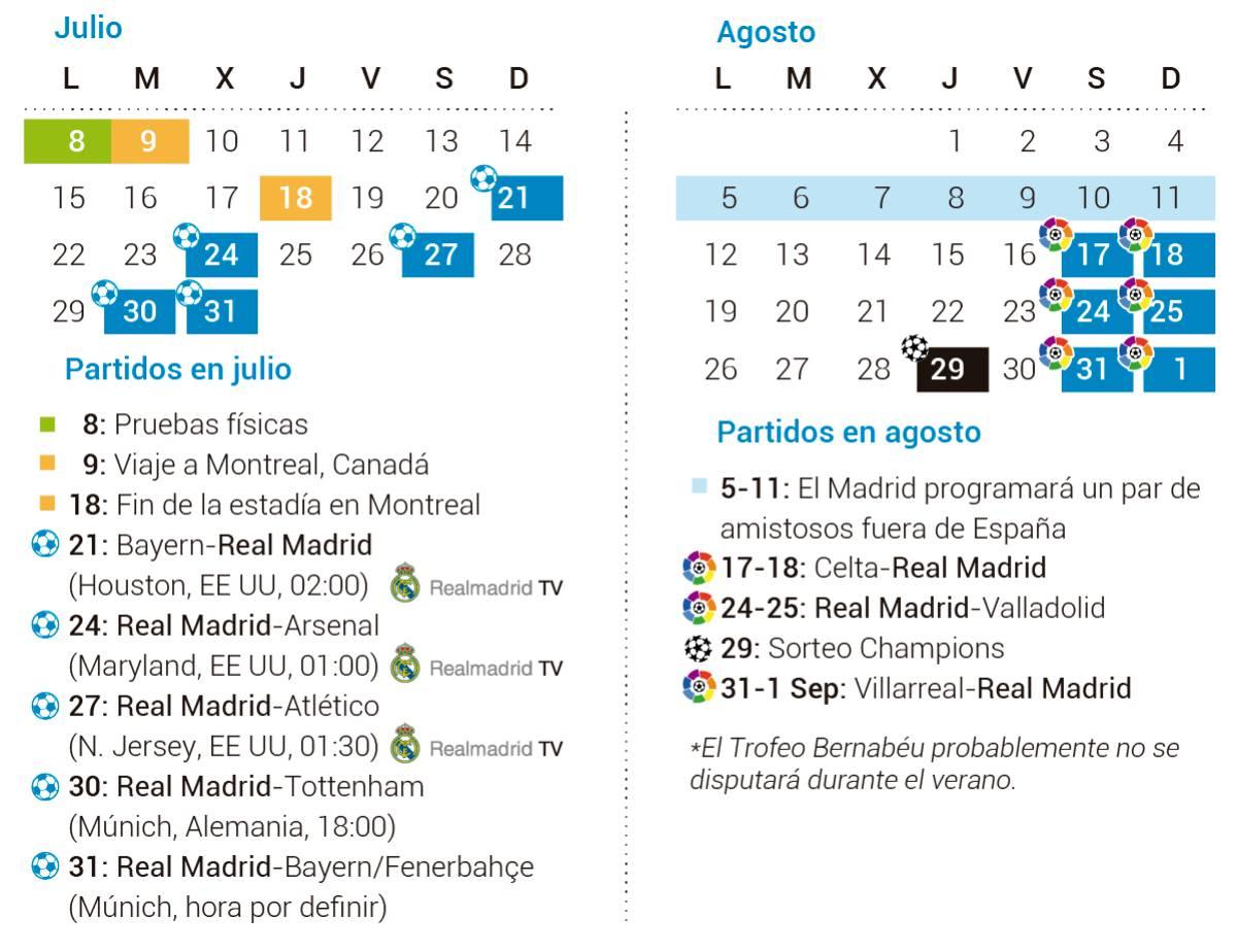 Calendario Real Madrid.Los Tres Primeros Amistosos Del Real Madrid Se Veran En Rmtv As Com