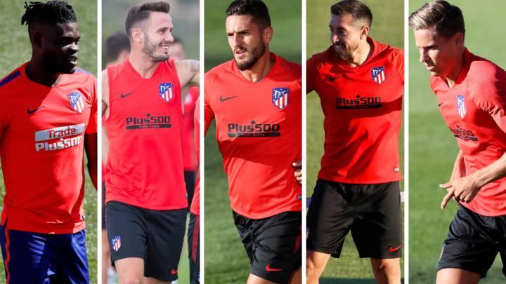 Thomas, Saúl, Koke, Héctor Herrera y Marcos Llorente.