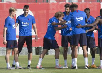 Griezmann, De Jong, get their first taste of Barça training