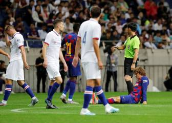 Griezmann suffers injury scare in first Barcelona appearance