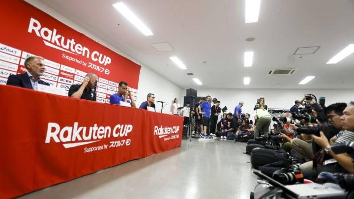 Rueda de prensa de Barcelona y Vissel Kobe por la Rakuten Cup
