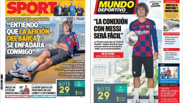 """Griezmann: """"Neymar es top, puede caber en el Barça"""""""
