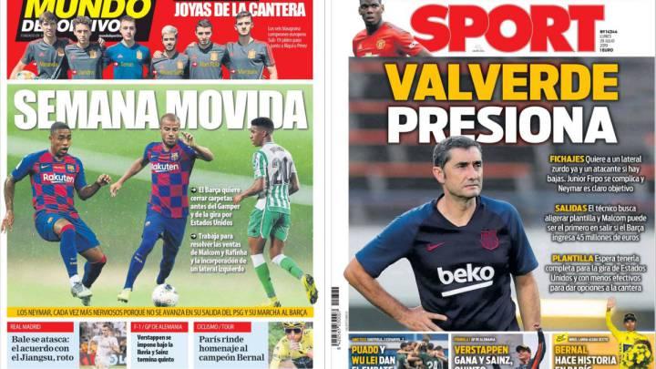 La prensa de Barcelona anuncia semana movida