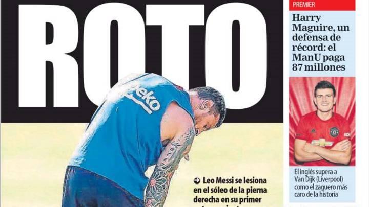 Bajonazo con Messi