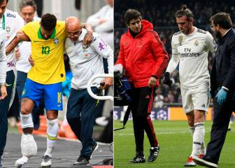 Neymar ahead of Bale for time out through injury
