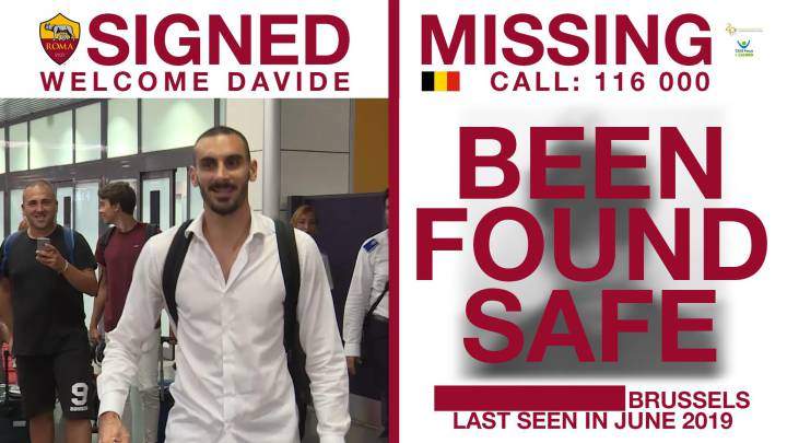 AS Roma new-signing tweets help find two missing children
