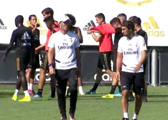 James, Brahim, Marcelo... el Real Madrid se entrena con el Castilla