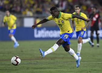 Vinicius makes senior Brazil debut: