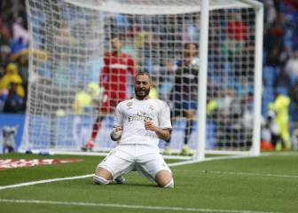 Benzema closing on Puskas in Real Madrid scoring stakes