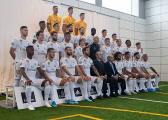 Real Madrid pose for the official 2019-20 first team photo
