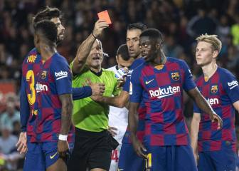 Unaccountable Dembélé refuses to discuss sending off
