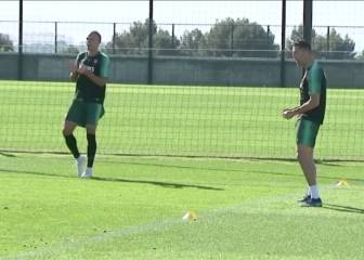 Cristiano a bundle of energy as Portugal train for Euro qualifier