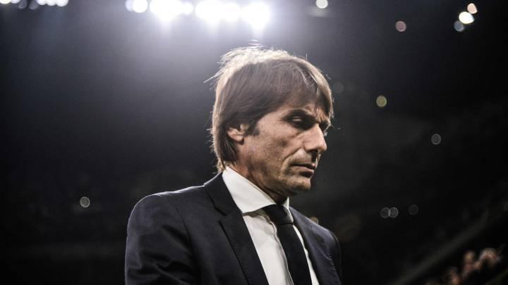 El entrenador italiano del Inter de Milán, Antonio Conte, durante un partido.
