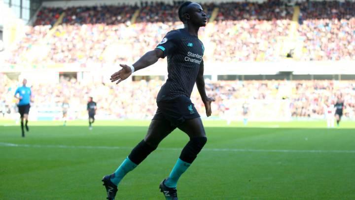 El extremo senegalés del Liverpool, Sadio Mané, durante un partido.