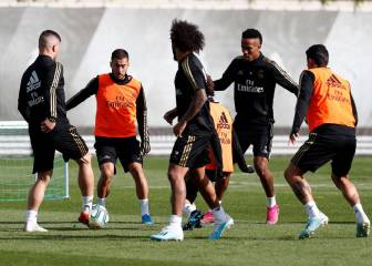 Real Madrid train with five new faces but no Gareth Bale