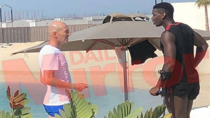 Zidane meets up with Paul Pogba in Dubai