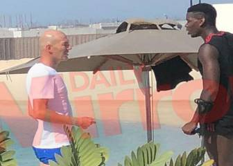 Zidane meets up with Paul Pogba in Dubai