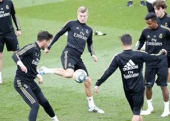 Kroos trains as Modric, Bale and Lucas remain out