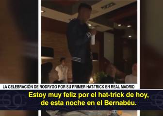 Rodrygo toasts family and friends in post-hat trick speech