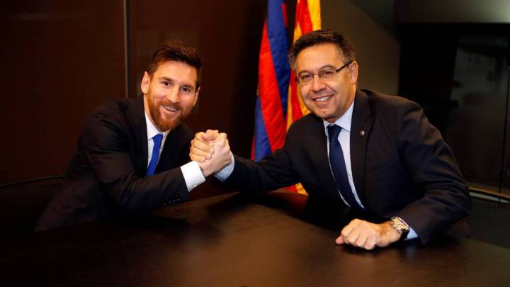 Image result for messi and barca president