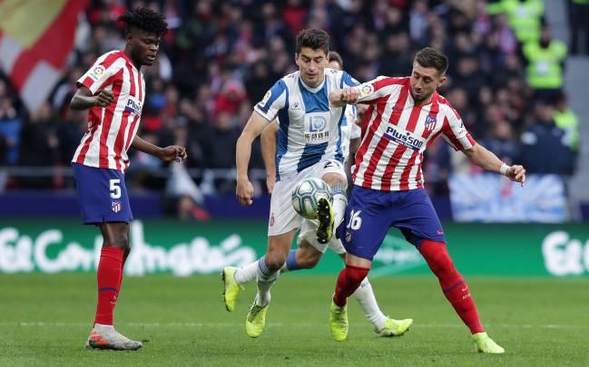 Herrera durante el partido contra el Espanyol.