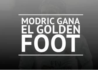 Modric gana el Golden Foot