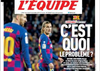 L'Equipe ask 'Griezmann, what's the problem?'
