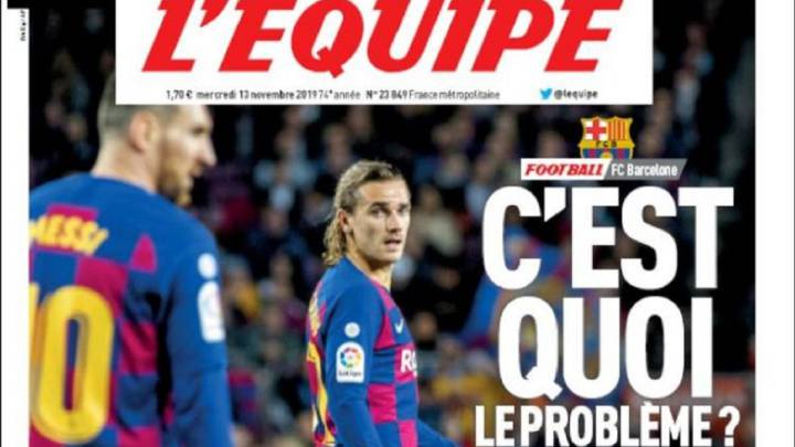 L Equipe Ask Griezmann What s The Problem At Barcelona AS com