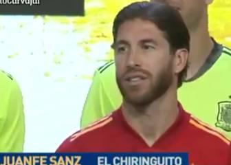 Ramos cringes as Carvajal asked about Bale's situation
