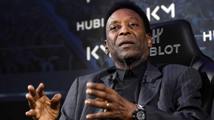El exxjugador brasileño, Pelé.
