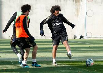 Marcelo back in full training with Real Madrid squad